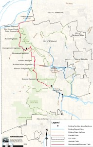 Western Greenway Trail Map